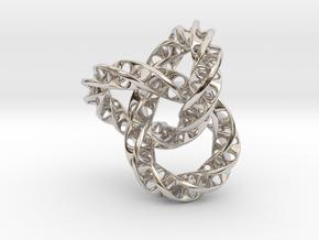 Fused  Interlocked Mobius Infinity Knot Smaller in Platinum