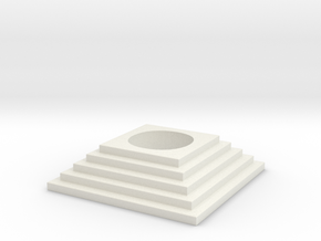 Stairs tealight 3 in White Natural Versatile Plastic