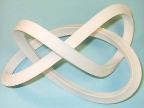 Large Mobius Figure 8 Knot in White Processed Versatile Plastic