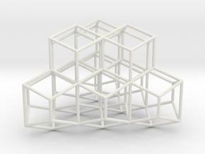 TrapRhombDodec 100mm in White Natural Versatile Plastic