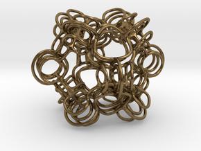 Skeletal Loops #2 Smaller in Natural Bronze