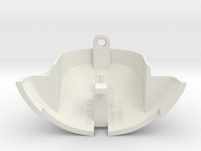 VW Vanagon mirror end cap in White Natural Versatile Plastic