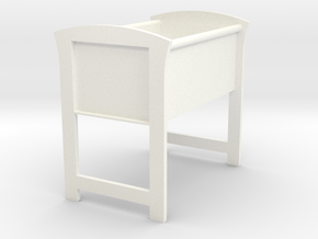 Doll's Bassinet (1:12 scale) in White Processed Versatile Plastic