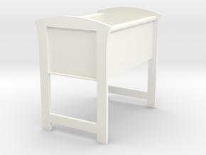 Doll's Bassinet (1:12 scale) in White Processed Versatile Plastic