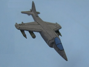 1/285 Scale Harrier w/Ordnance in White Natural Versatile Plastic