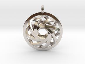ATOM CORE Designer Jewelry Pendant in Platinum