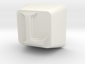 L Cherry MX Keycap in White Natural Versatile Plastic