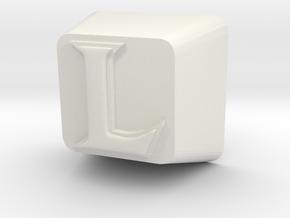 L Cherry MX Keycap in White Natural Versatile Plastic