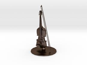 Violin in Polished Bronze Steel