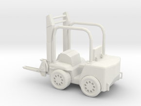 Forklift 1/29 scale in White Natural Versatile Plastic