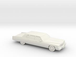 1/87 1975 Cadillac Fleetwood 75 Strech Limosine in White Natural Versatile Plastic