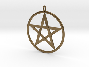 Pentacle Pendant - braided in Natural Bronze
