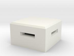 MG Pillbox 4 in White Natural Versatile Plastic