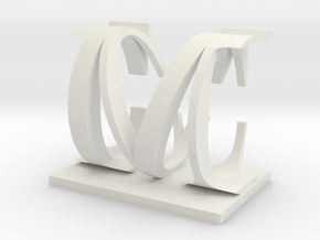 Two way letter / initial C&M in White Strong & Flexible