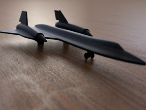 SR71 Blackbird 1/285 miniature, 106mm in Black Strong & Flexible