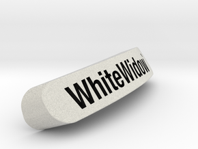WhiteWidow`Nameplate for SteelSeries Rival in Full Color Sandstone