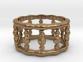 Designer COLUMN RING in Silver |  Gold |  Steel in Natural Brass