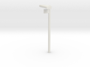 1/160 - DSB Stations lampe med Spornummer skilt (V in White Strong & Flexible