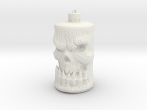 Skull Ornament in White Natural Versatile Plastic