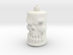 Skull Ornament in White Natural Versatile Plastic