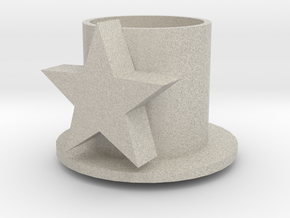Table Candle Holder With Star - Tafelkaarshouder M in Natural Sandstone