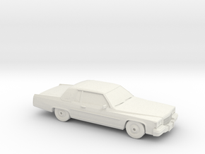 1/87 1984 CadillacDeVille Coupe in White Natural Versatile Plastic