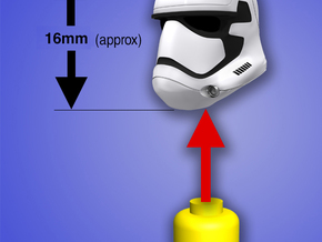 Episode 7 Stormtrooper Helmet for Lego Mini Fig in White Strong & Flexible Polished