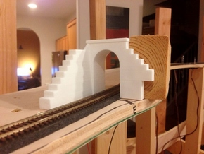 N-Scale Tehachapi Tunnel #16 East in White Natural Versatile Plastic