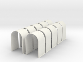 N-Scale Tunnel Liner - Single Track (10-Pack) in White Natural Versatile Plastic