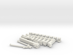 1/400 NASA LUT Swingarms-Pivots-Supports-Damping  in White Natural Versatile Plastic