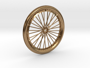 Bicycle wheel miniature in Natural Brass