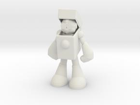 HeatMan in White Natural Versatile Plastic