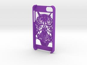 iphone 5 - Owl design  in Purple Processed Versatile Plastic