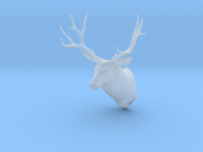 Miniature 1:48 Deer Head in Smooth Fine Detail Plastic
