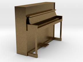 Miniature 1:24 Upright Piano in Natural Bronze