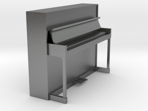 Miniature 1:24 Upright Piano in Natural Silver