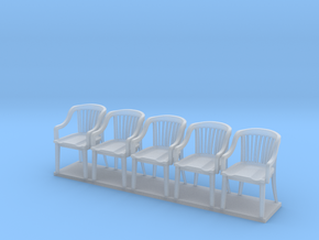 Miniature 1:48 Bankers Chairs (5) in Frosted Ultra Detail
