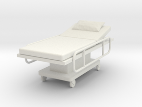 Miniature 1:24 Hospital Bed in White Strong & Flexible