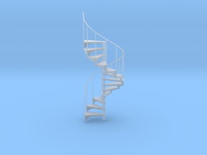 Miniature 1:24 Spiral Stair (Left Hand) in Frosted Ultra Detail