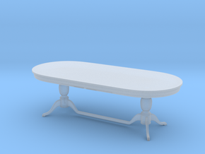 Miniature 1:48 Dining Table in Smooth Fine Detail Plastic