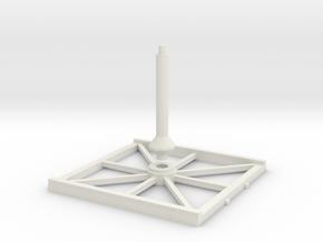 SW Base 80x80mm / LIGHT in White Natural Versatile Plastic