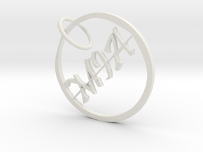 Mia Name Pendant in White Natural Versatile Plastic
