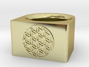 Sacred Flower Ring in 18k Gold