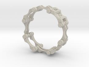 Chain Link  Bracelet 8 inch in Natural Sandstone