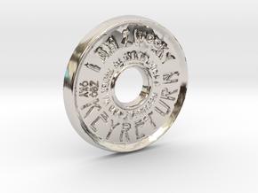 ZWOOKY Style 43 Sample - pendant donut in Platinum