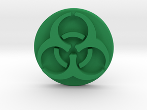 Pandemic Infection Marker -- Biohazard Symbol in Green Strong & Flexible Polished