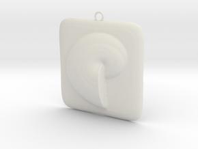 Beauty Shell Pendant  in White Natural Versatile Plastic