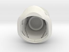 Episode 7 Stormtrooper Helmet for Lego Mini Fig in White Natural Versatile Plastic