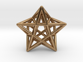 Star Pendant #2 in Polished Brass