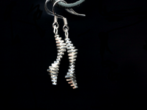 XVII² + XVII² Earrings in Polished Silver